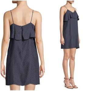NWOT ATM Polkadot Silk Cami Slip Dress L